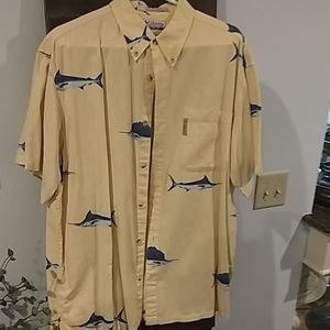 Columbia button up casual short sleeve